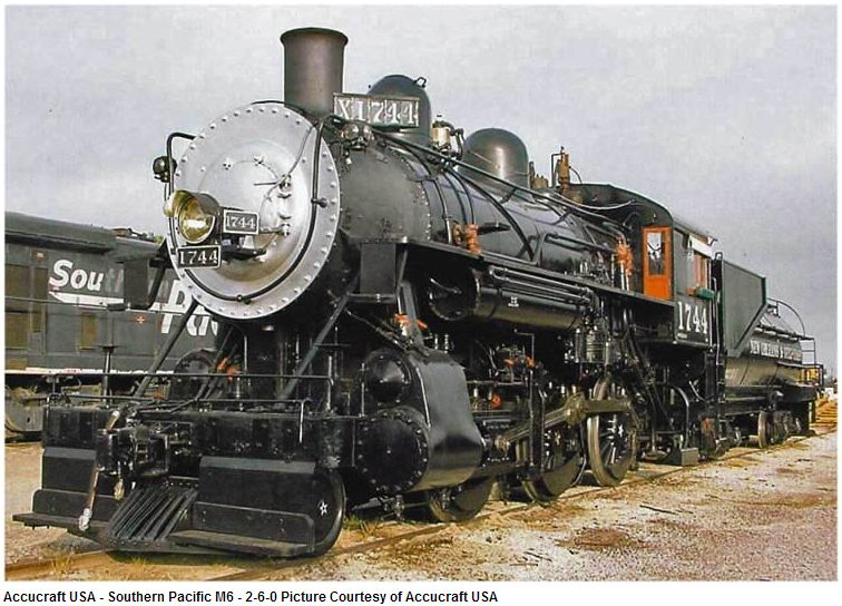 Southern Pacific M6 2-6-0