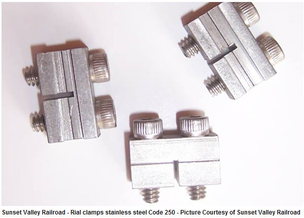 Rail Clamps. Stainless Steel