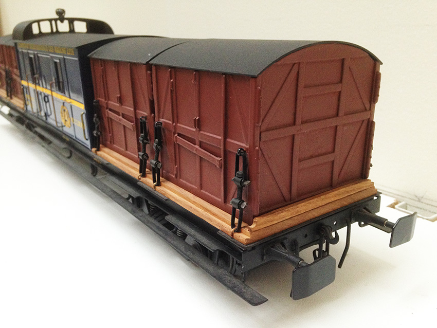 J&M Models CIWL Baggage / Container Wagon