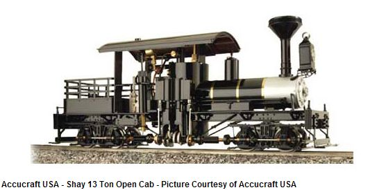 SHAY - 13T OPEN CAB LIVE STEAM